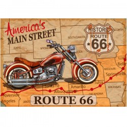 Póster adhesivo Route 66