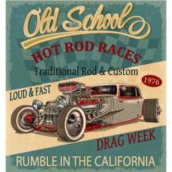 Poster adhesivo Hot rod races