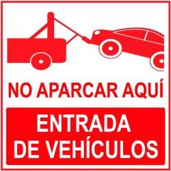 Vinilo no aparcar aquí