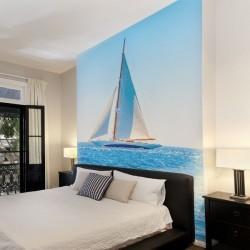 Mural de pared barco a vela
