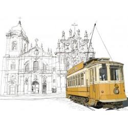 Fotomural Basilica y Tranvía