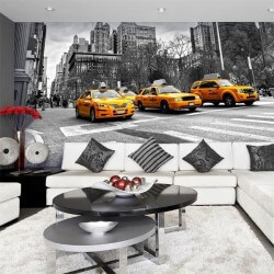 Fotomural taxis en Nueva York