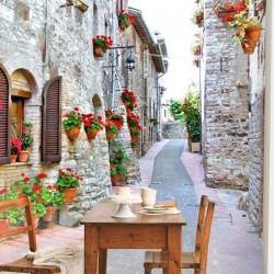 Mural de pared calles de Itália