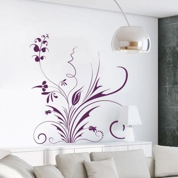 Adhesivo decorativo floral 7