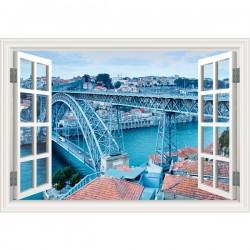 Vinilo ventana Puente D. Luís