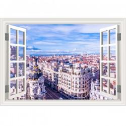 Vinilo ventana ciudad Madrid