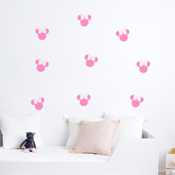 Siluetas de pared Minnie Mouse
