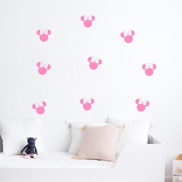 Siluetas de pared Minnie Mouse