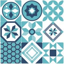 Adhesivo de azulejo portugués azul