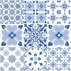 Vinilo azulejo portugués azul 1