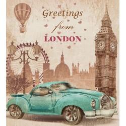 Póster vintage de Londres