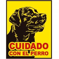 Pegatina cuidado con el perro