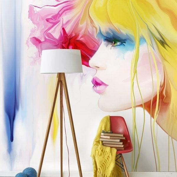 Fotomural ilustración mujer