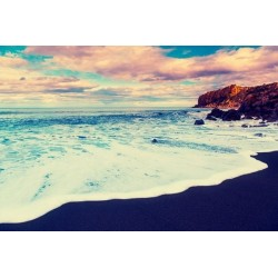 Fotomural playa al atardecer