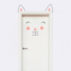 Vinilo puerta gato