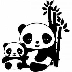 Vinilo infantil osos pandas