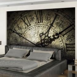 Mural en vinilo reloj antiguo