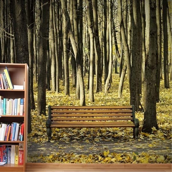 Mural en vinilo paisaje de otoño