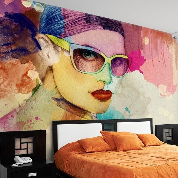 Fotomural pintura de colores