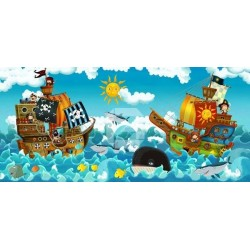 Mural en vinilo piratas
