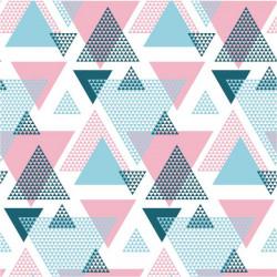 Vinilo triángulos abstractos