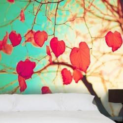 Mural en vinilo hojas...