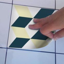 Adhesivo de azulejo portugués amarillo