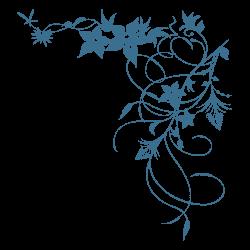 Pegatina floral de narcisos