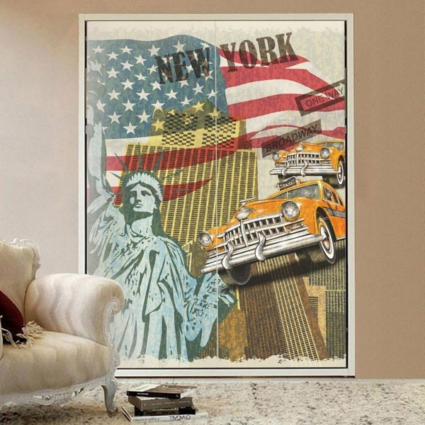 Vinilo para muebles New York City