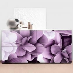 Vinilo para cómodas flores abstractas 1