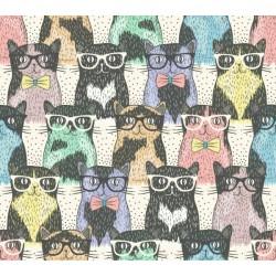 Adhesivo para muebles gatos con gafas