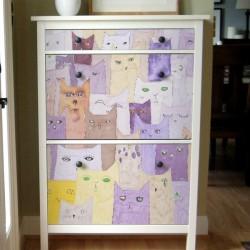Vinilo para muebles pintura gatos