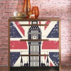 Vinilo cómodas Big Ben vintage