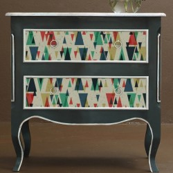 Vinilo para muebles triángulos vintage