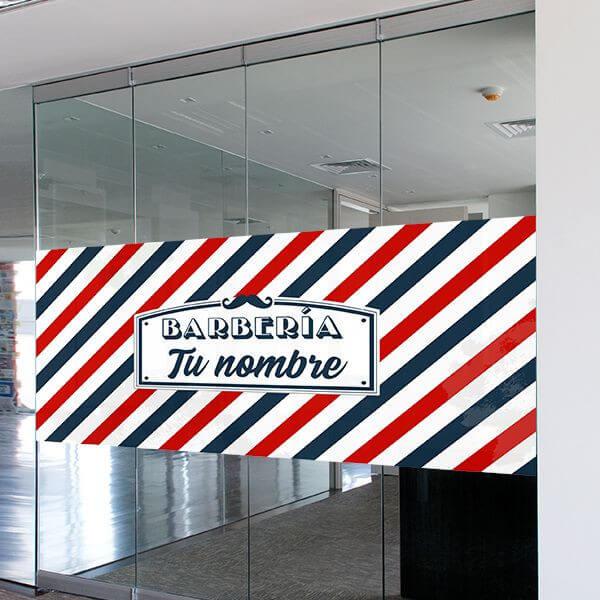 Vinilo cartel barbería personalizado