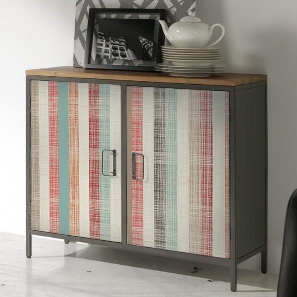 Vinilos para muebles tejido rayas adhesivos decorativos armarios puertas y neveras - Papel decorativo ikea ...