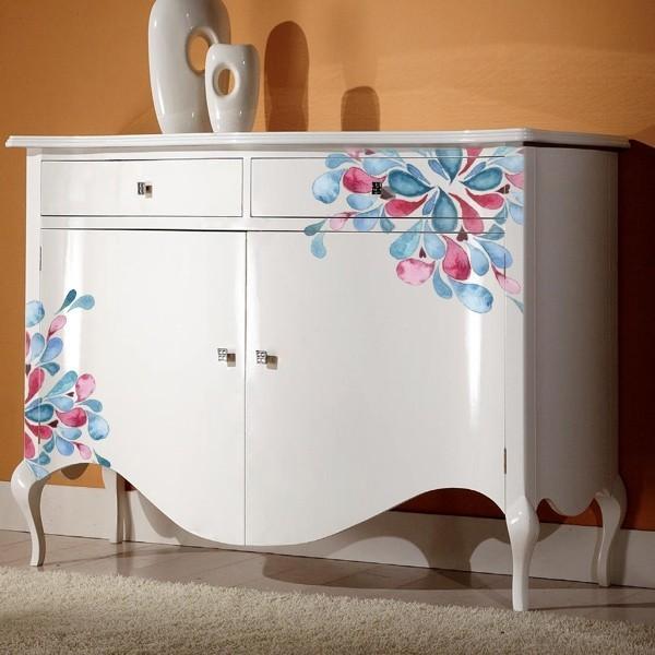 Vinilos para muebles pintura acuarela gotas adhesivos for Adhesivos decorativos para muebles