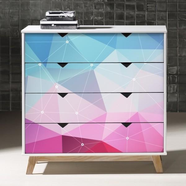 Vinilos para muebles tri ngulos 3d adhesivos decorativos for Adhesivos decorativos para muebles