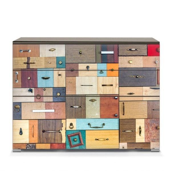 Vinilos para muebles diversos cajones adhesivos decorativos for Adhesivos decorativos para muebles