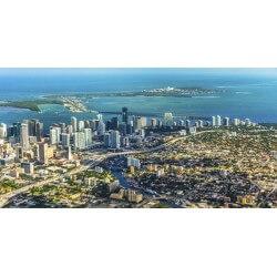 Fotomural Miami desde el cielo