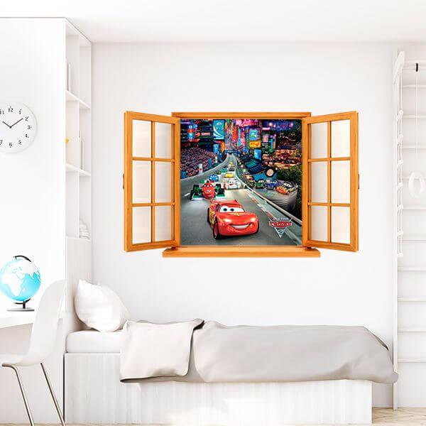 Falsa ventana McQueen Disney