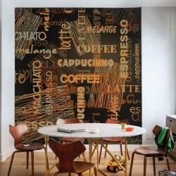 Mural pared café idiomas