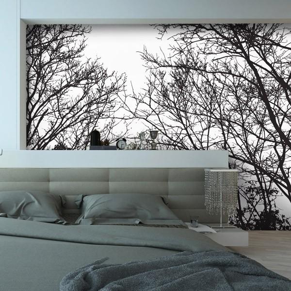 Fotomural de bosque nublado