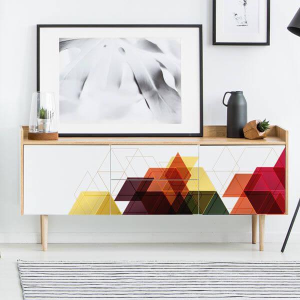 Vinilo formas geométricas 3D