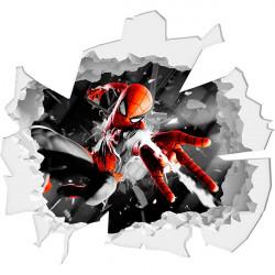 Agujero de pared Spiderman