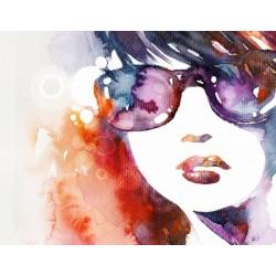 Fotomural chica de gafas
