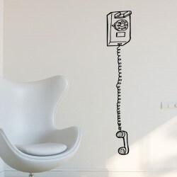 Adhesivo decorativo teléfono