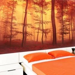 Fotomural personalizado de bosque rojo