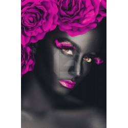 Fotomural mujer con flores