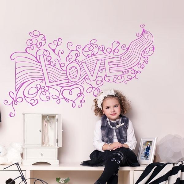 Vinilo decorativo love infantil